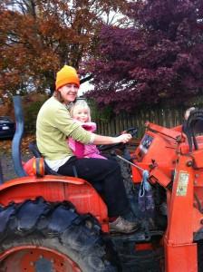 Zestful Gardens Farmer on tractor