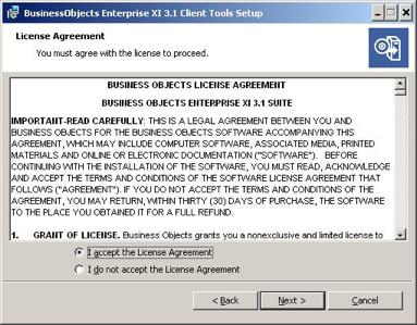 license agreement window