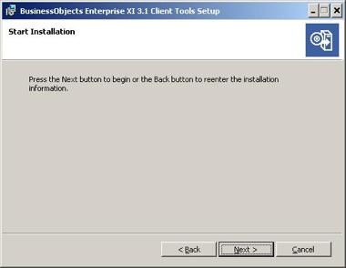 start installation window