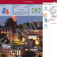 new my WSU Fluid Interface Faculty homepage with navigation bar on right-hand side