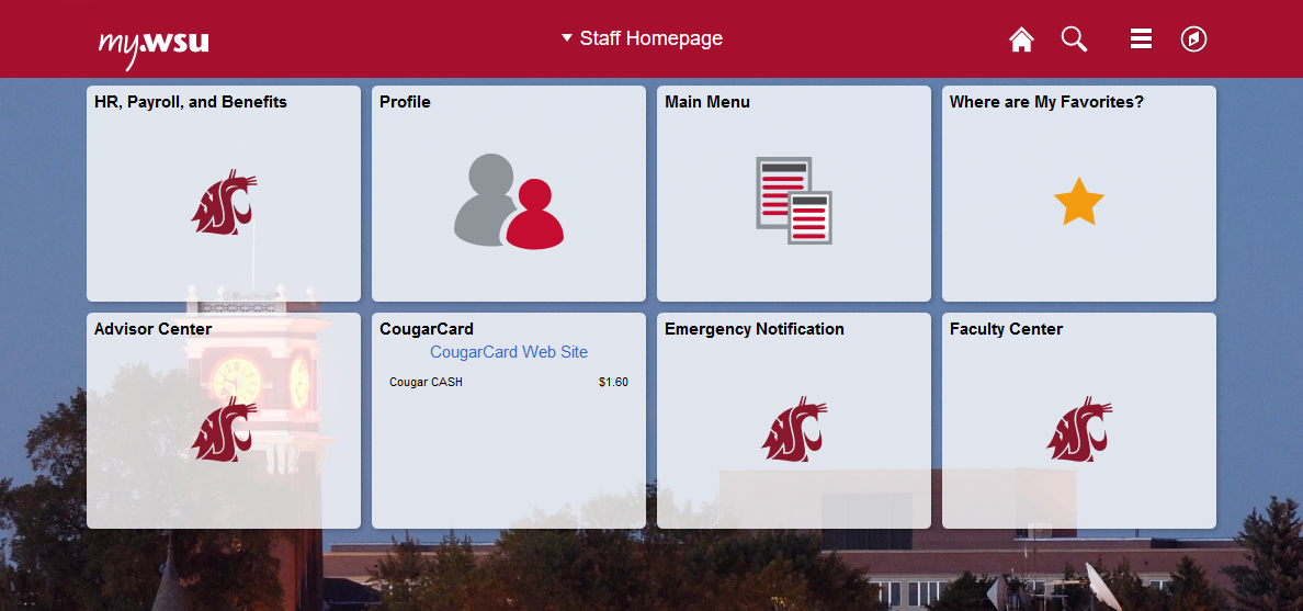new my WSU fluid interface staff homepage