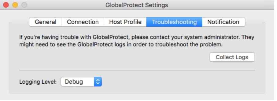 GlobalProject Troubleshooting