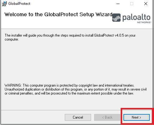 GlobalProtect Setup Wizard