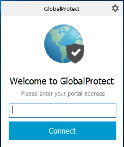 GlobalProtect Welcome Screen