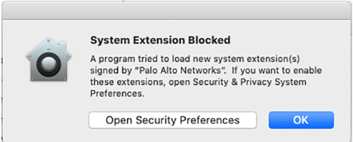 System Extension Blocked Pop-up
