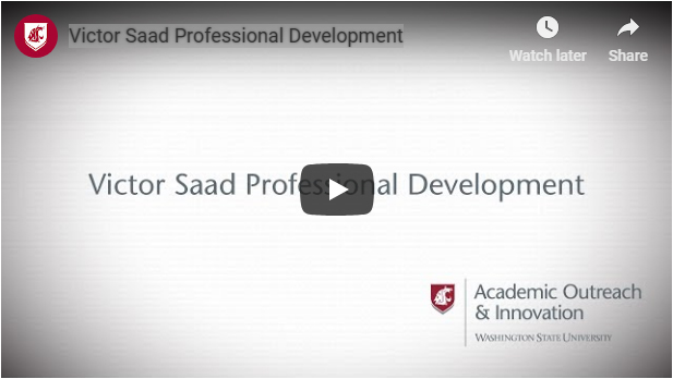 Video Placeholder: Victor Saad, Professional Development.