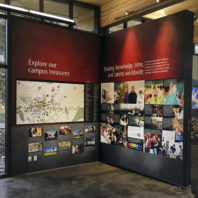 Informational wall display at visitor center