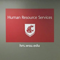 Human resource services wall decal and lettering