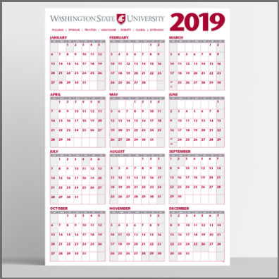 2019 Wall Calendar