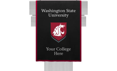 WSU black podium banner
