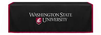 Standard WSU black table drape