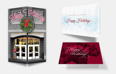 opens photo gallery. three examples of greeting cards.