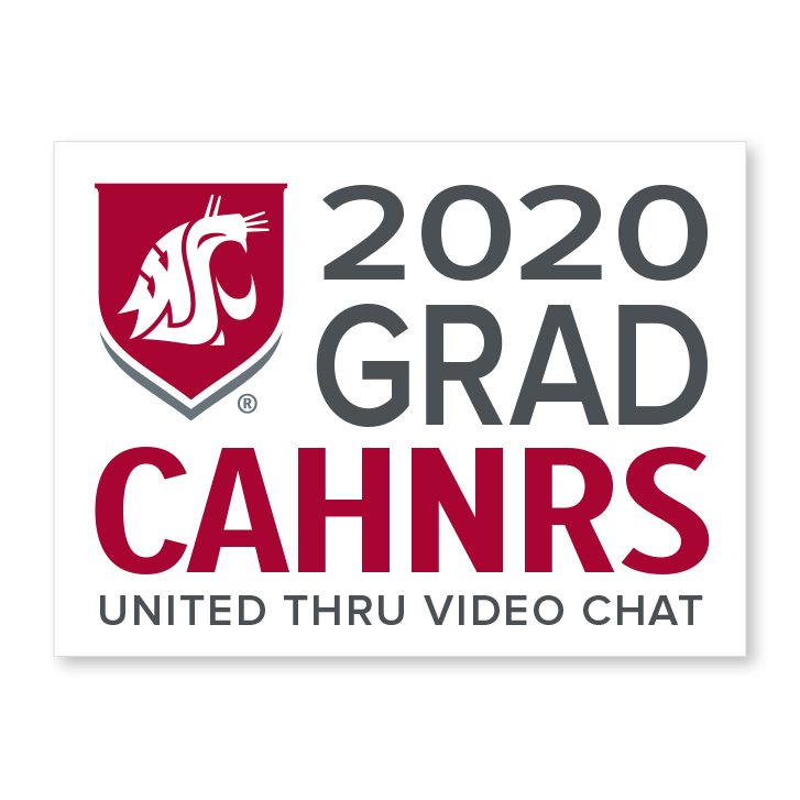 white decal for CAHNRS 2020 graduate