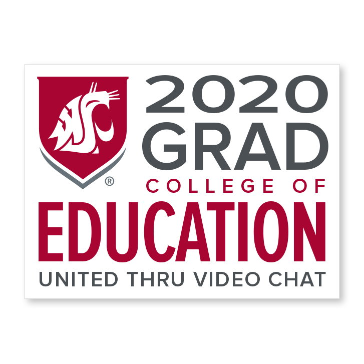 white decal for college of education 2020 graduate