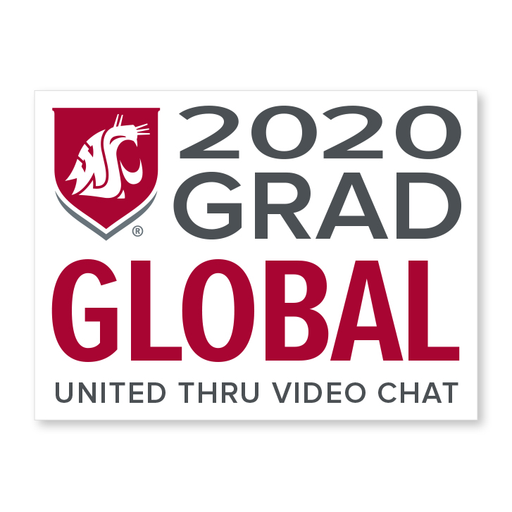 white decal for global 2020 graduate