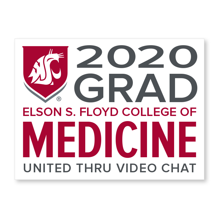 white decal for elson s floyd college of medicine 2020 graduate