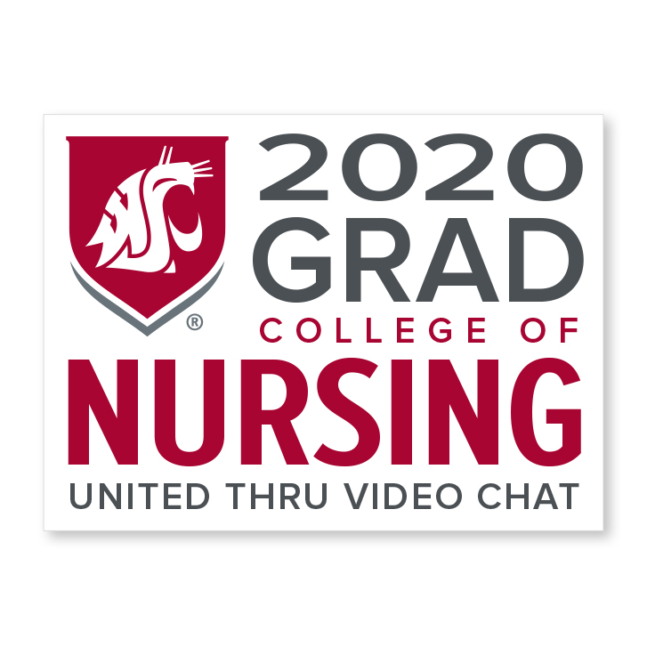 white decal for college of nursing 2020 graduate