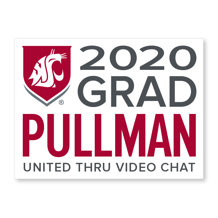 white decal for pullman 2020 graduate
