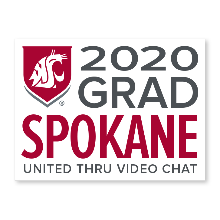 white decal for spokane 2020 graduate