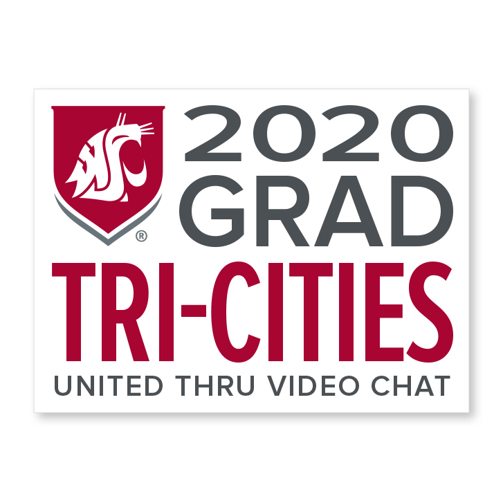 white decal for tri-cities 2020 graduate