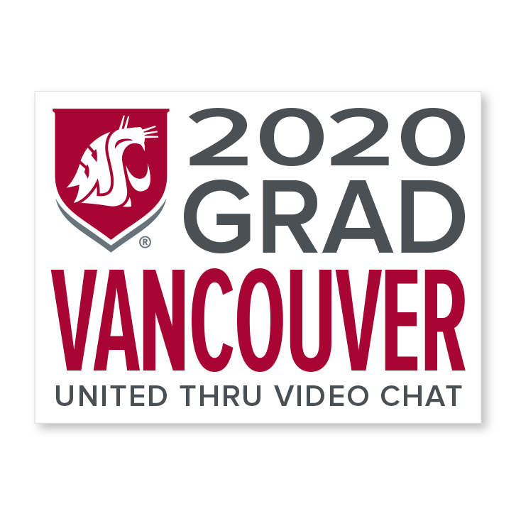 white decal for vancouver 2020 graduate