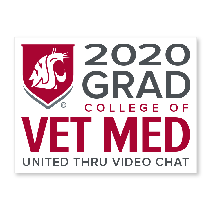 white decal for college of veterinary medicine 2020 graduate