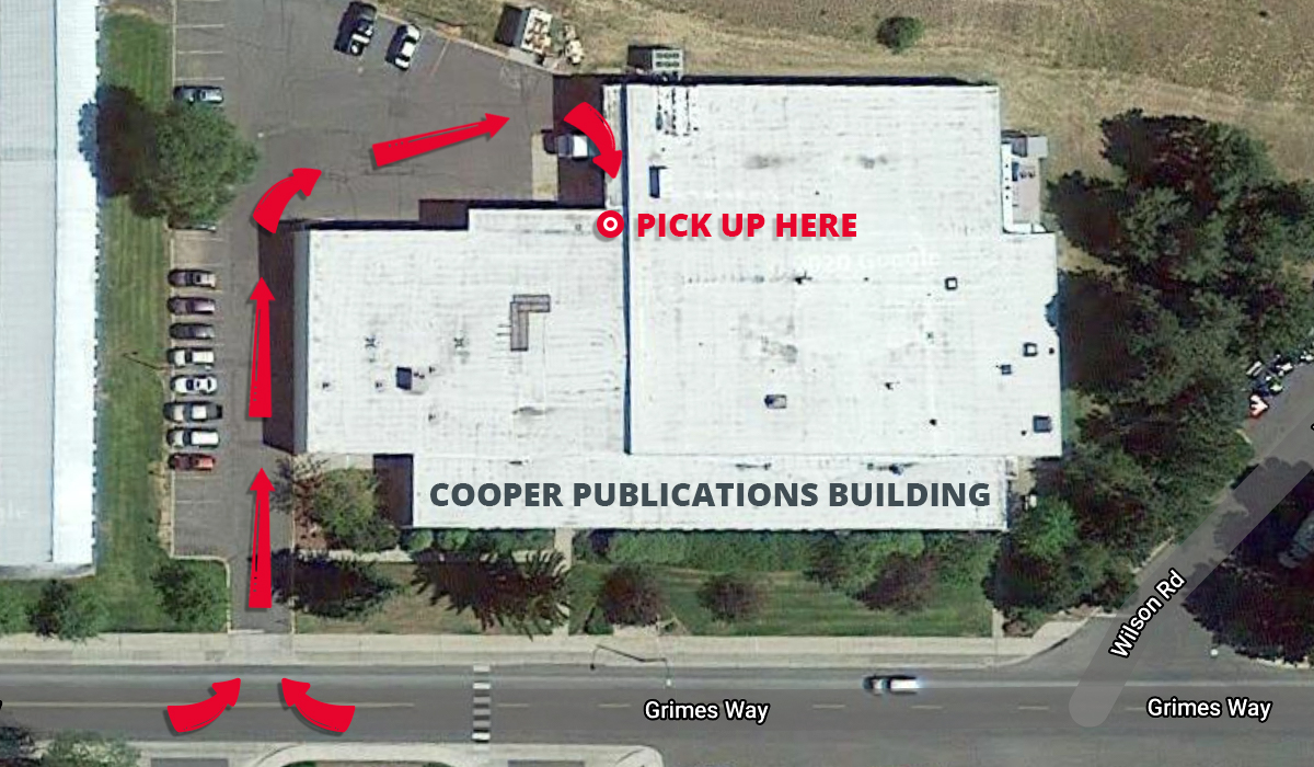 top view of cooper publications building.