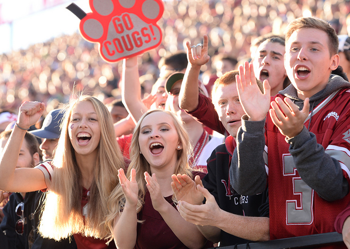 Cougs at a sporting event