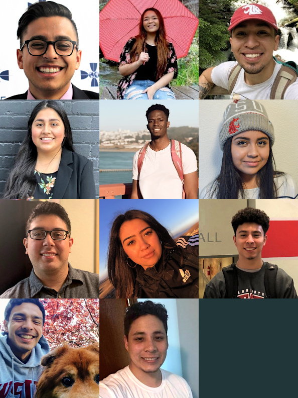 A collage showing the students who are serving as LSAMP STEM Ambassadors for the 2019 through 2020 academic year.