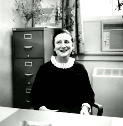 Ruth Slonim in a vintage photograph.