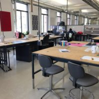 Student work space/studios located on the 3rd and 4th floor of Carpenter Hall.