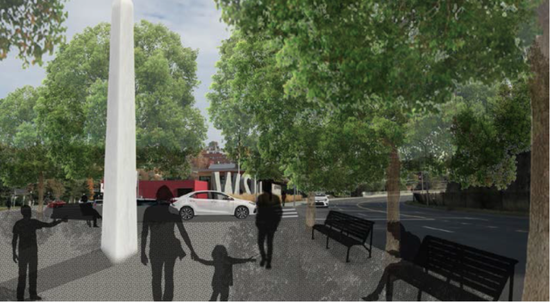 Rendering of student design for Gateway project.