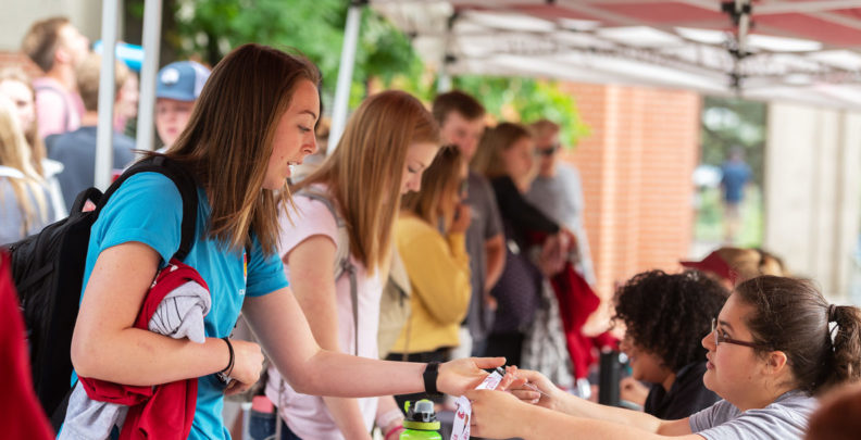 New Washington State University students participate in Alive! Around the Pullman campus Wednesday, June 13, 2018.