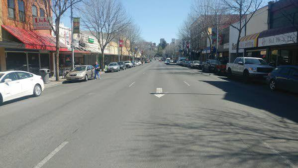 View of Pullman downtown (Main Street).