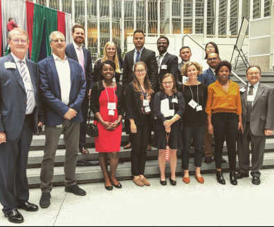 Students and mentors/instructors at the Future Leaders Fellow of the Association for International Agriculture and Rural Development Conference.