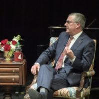 Faculty interviewing Kirk Schulz