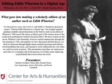 Editing Edith Wharton Poster