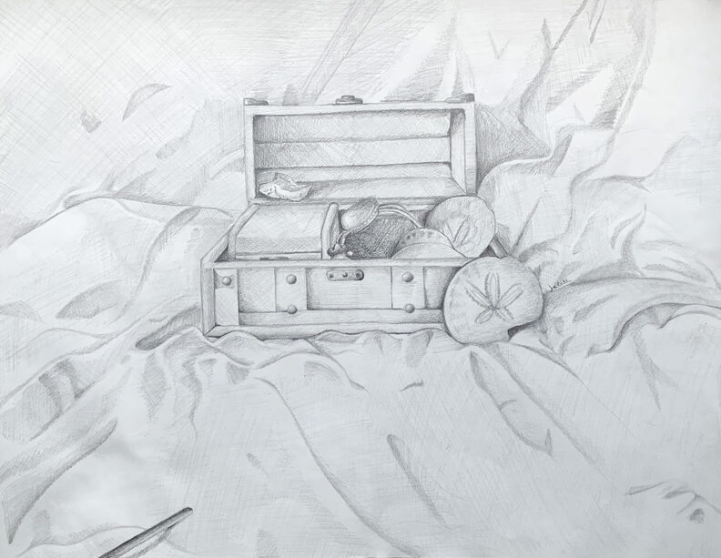 Drawing of a treasure chest