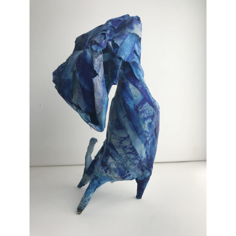 Amorphous blue sculpture