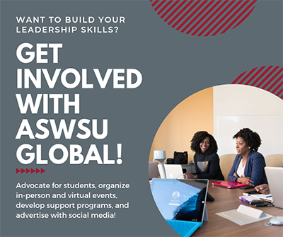 Graphic: Want to build your leadership skills? Get involved with ASWSU Global!