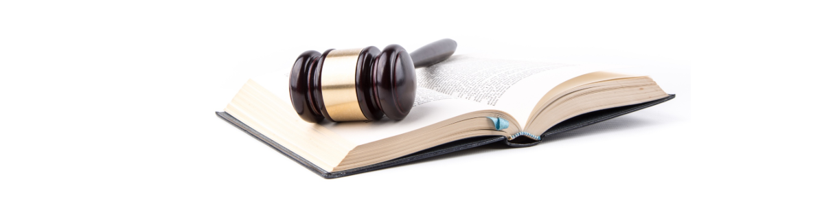 Photo: Gavel resting on open book.