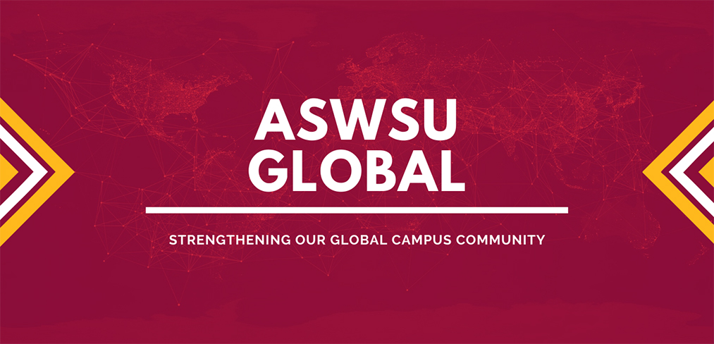 Graphic: ASWSU Global strengthening our Global Campus community.