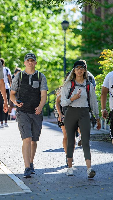 Students Walking on Terrell Mall