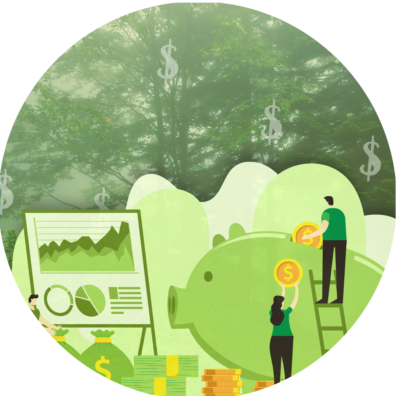 Green Financial Education Themed Graphic - No Text