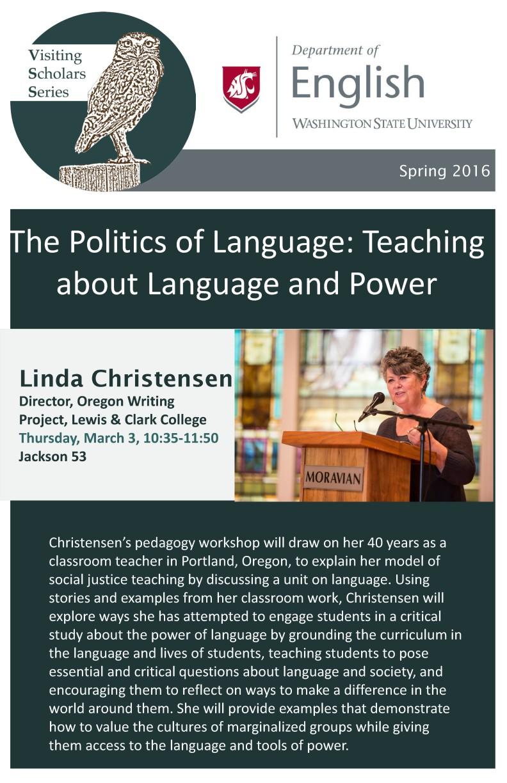 Visiting scholars series english washington state university linda christensen 1betcityfo Gallery