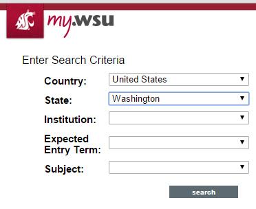 Screenshot: Transfer Credit Search Tool.