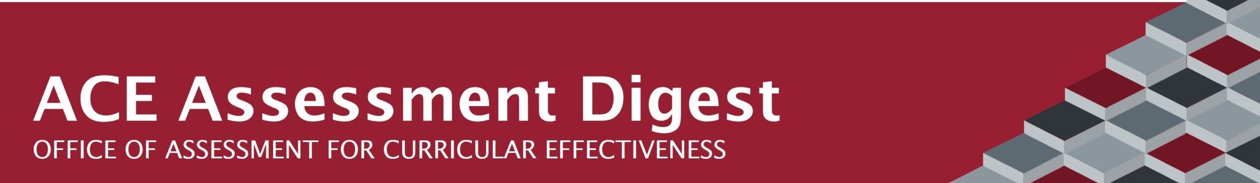 ACE Assessment Digest Header.