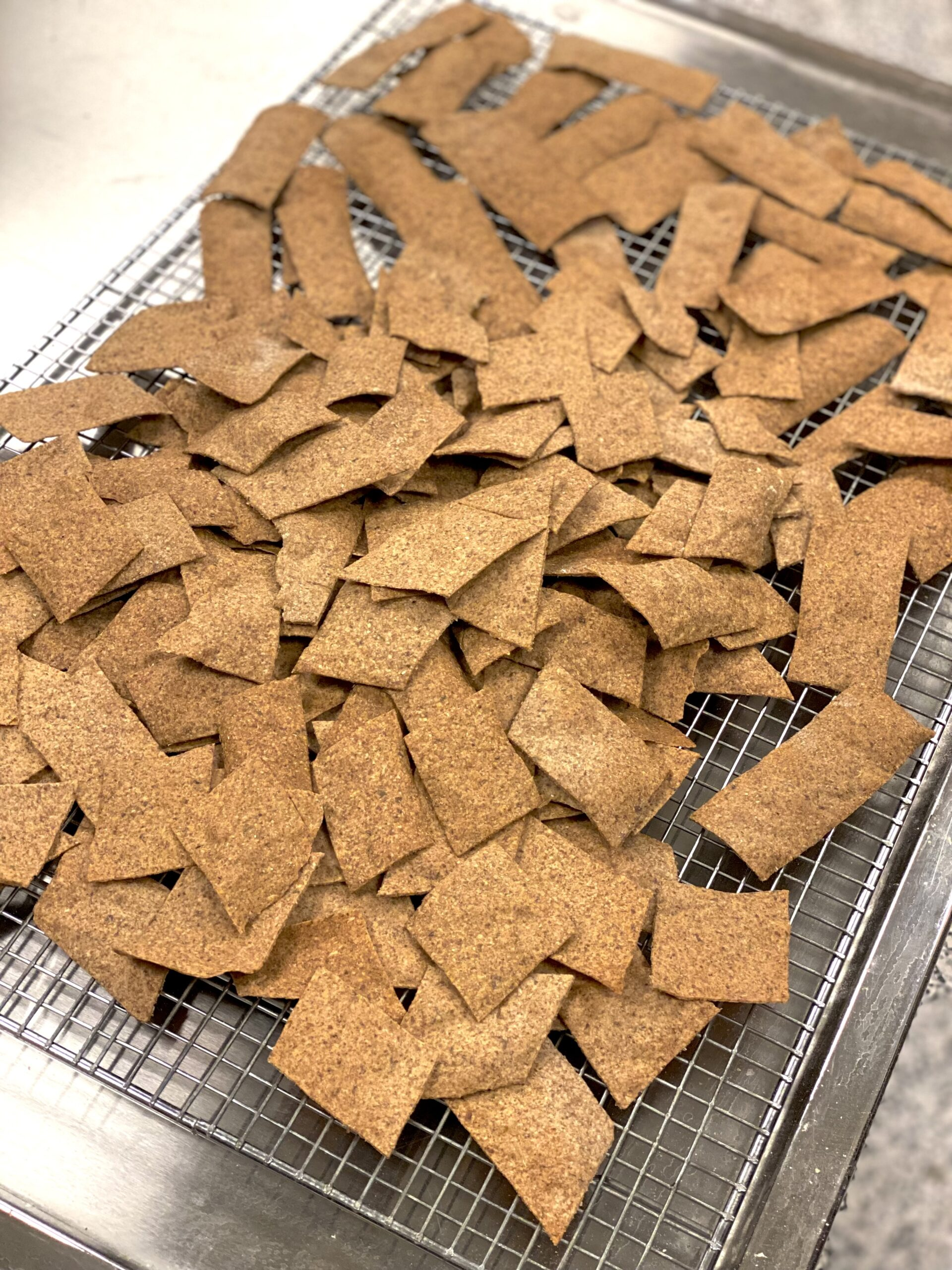 crackers on a cooling rack