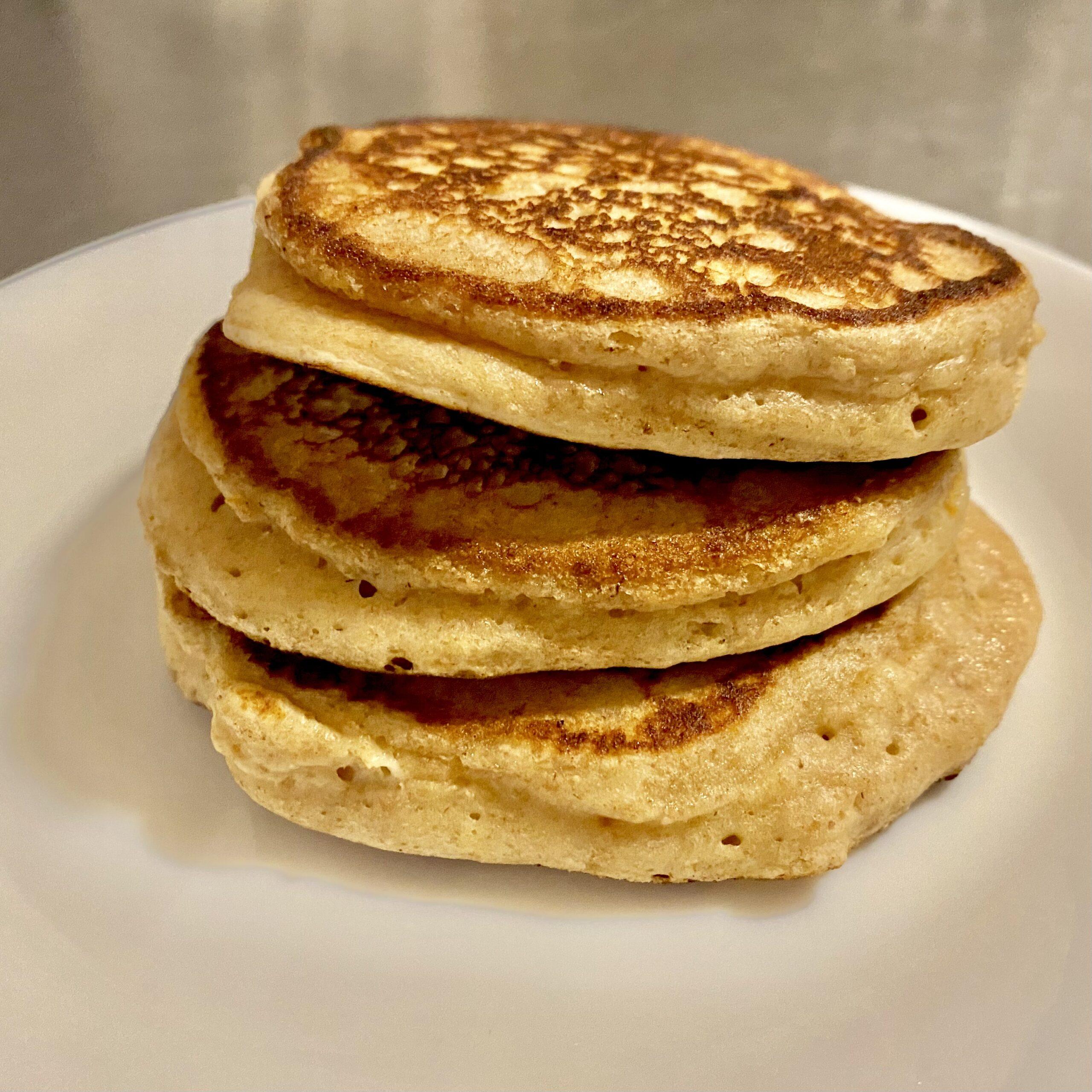 stack of three pancakes