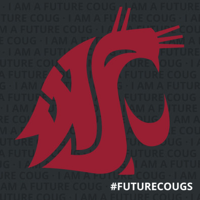 FutureCoug Social media profile image crimson on gray
